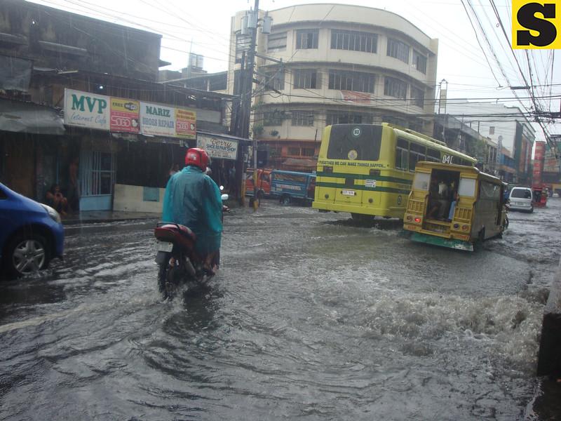 Flooding in Junquera St. in Cebu City