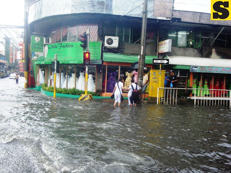 Flooded Sanciangko St. in Cebu City