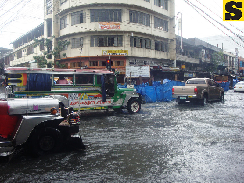 Flooded street in Cebu City