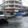 Flooded street in Cebu City