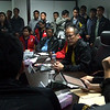 President Benigno S. Aquino III leads the National Risk Reduction and Management Council (NDRRMC) meeting Tuesday, August 7, 2012 at the NDRRMC office in Camp Aguinaldo in Quezon City. The President later met with members of the media to update on the effect of typhoon Gener. <br /> (Photo by Gil Nartea/Malacanang Photo Bureau)