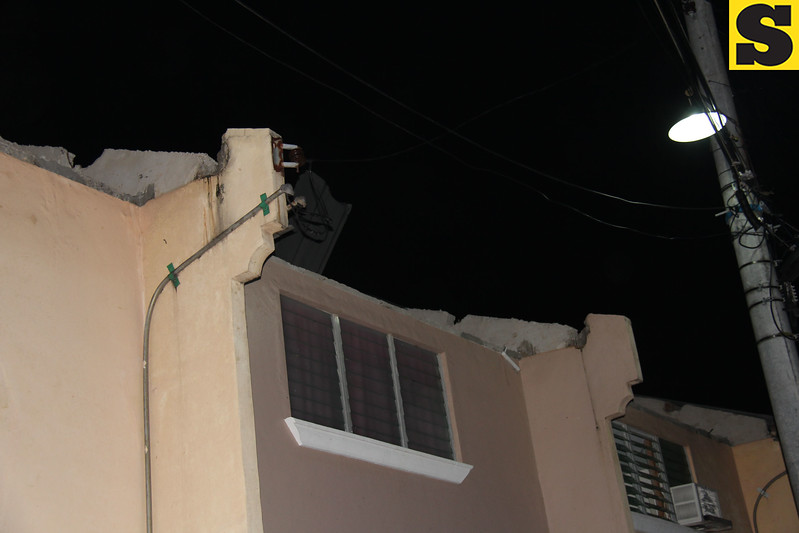 Damage caused by mini-tornado in Barangay Tungkil, Minglanilla, Cebu