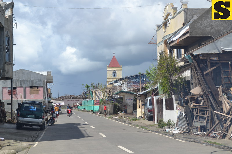 TACLOBAN. Clearing has been done but the historic Balangiga, Eastern Samar, made famous by the Balangiga Massacre in 1901 during the Filipino-American War, is still in ruins on November 28. Mayor Viscuso de Lira said the town saw a 20 percent drop of population due to slow recovery.  (Gerwin Babon)