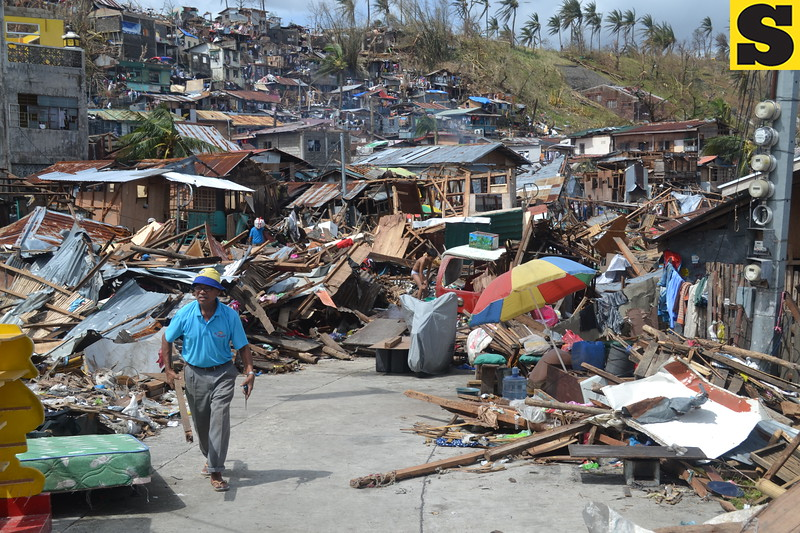 Super Typhoon Yolanda (Haiyan), considered as the strongest typhoon in the world this year, caused major damage in this city, the home of more than 200,000 people in central Philippines. The typhoon hit land on November 8, 2013, with winds of 260 kilometers per hour. It triggered giant storm surges that flooded the city and other coastal areas in the Province of Leyte, leaving a wide swath of destruction. (Photo by Gerwin Babon)