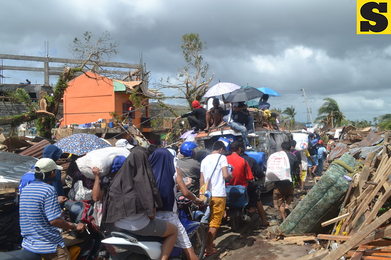 strongest typhoon in the world this year, caused major damage in this city, the home of more than 200,000 people in central Philippines. The typhoon hit land on November 8, 2013, with winds of 260 kilometers per hour. It triggered giant storm surges that flooded the city and other coastal areas in the Province of Leyte, leaving a wide swath of destruction. (Photo by Gerwin Babon)