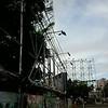 CEBU CITY. Tarpaulins in billboards along Cebu Business Park were lowered down as Typhoon Pablo was expected to hit Cebu.