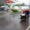 CEBU. Junk collectors in tandem bracing the wind and rain brought by typhoon Pablo in Cebu.