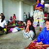 Residents living along the Mahiga creek in Sitios Sapasapa, Marna, Aroma and Nawanao-Gothong in Bgy. Subangdaku, Mandaue city were evacuated to San Roque covered court since the day before  the typhoon Pablo hit  Central Visayas. (Allan Cuizon)