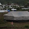 A tent provided to Typhoon Yolanda survivors in Tacloban City