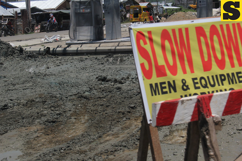 Road works are ongoing in Tacloban City six months after Typhoon Yolanda