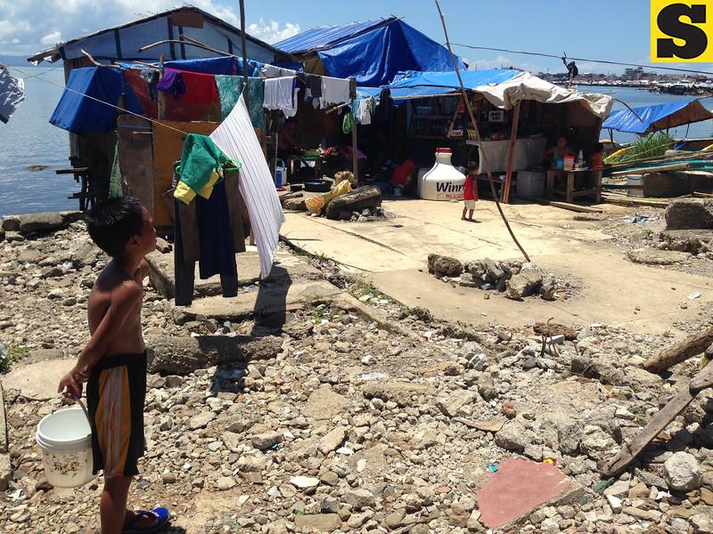 Anibong District in Tacloban City six months after Typhoon Yolanda