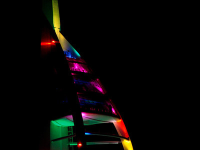 The Spinnaker Tower on Christmas Eve - Portsmouth, Hampshire.