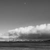 San Fran under fog & moon
