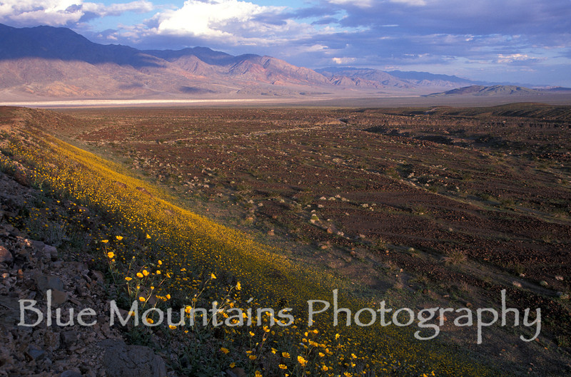 View southeast of Black Mountains from Warm Springs Canyon, southern portion of Death Valley.