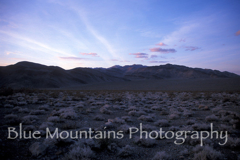 Cottonwood Mountains near Teakettle Junction, northern portion of Death Valley.