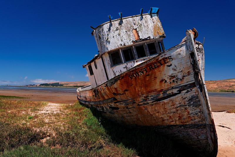 Grounded - Point Reyes Boat, Tamales Bay,