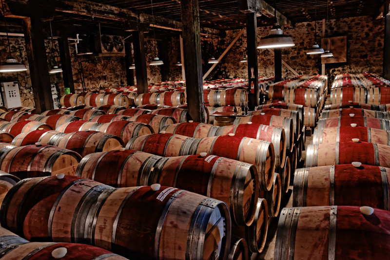 Wine Aging at Hess Vineyards