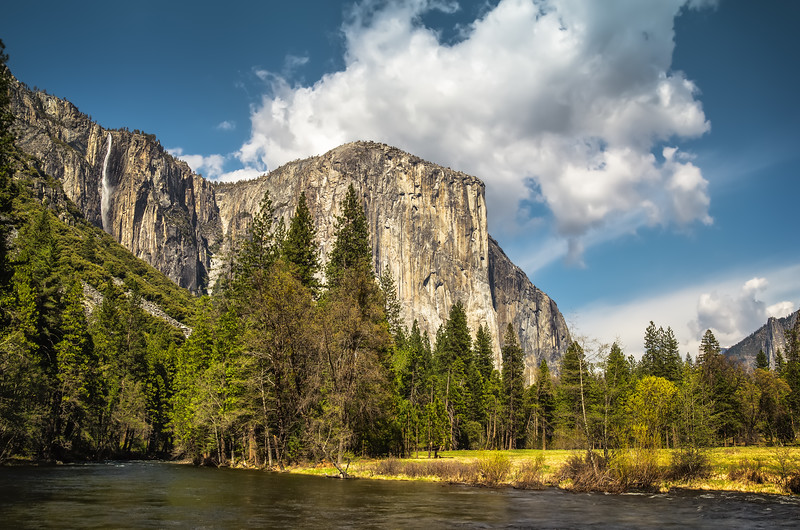 Merced River View in Yosemite Valley