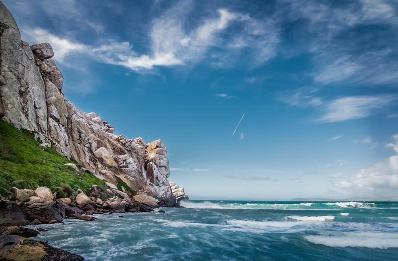 Waves at Morro Bay Rock