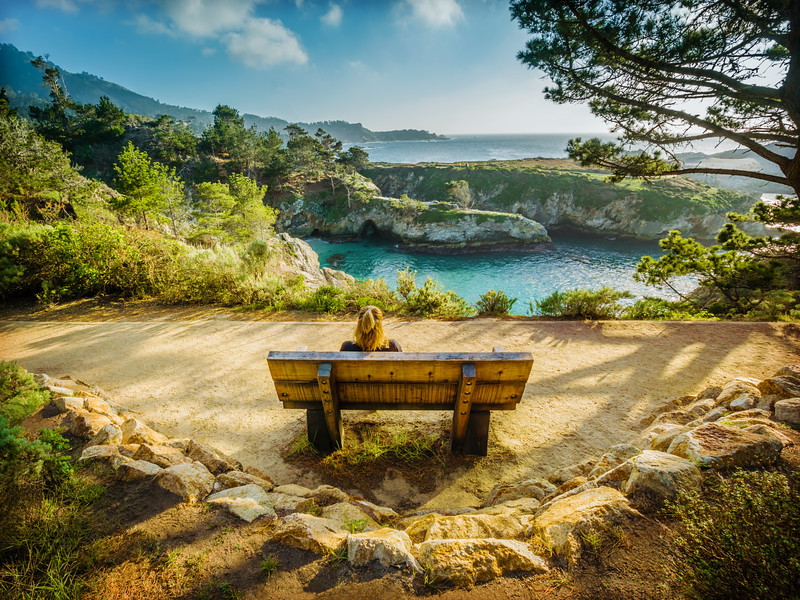 Bench with the View - California. Big Sur. Point Lobos