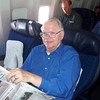 Jim flying to SLO - August 2001