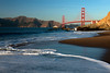 Golden Gate bridge from Baker Beach in San Francisco California