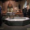 Baptismal font in chapel