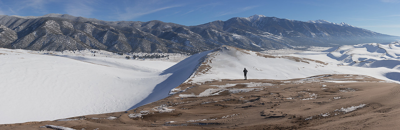 Hiking in the Great Sand Dunes of Colorado