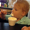 In life, it's all about moderation. :) Joel enjoying some ice cream at Vita Dolce in Tracy, CA