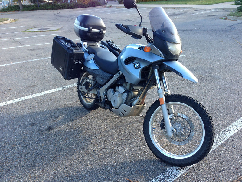 2001 F650GS with ABS, heated grips, and luggage