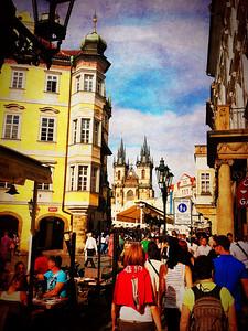 Old Town (Stare Mesta) Square.  Prague 4/29/12