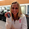 Lauren & her new car keys