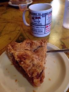 Gooseberry pie for breakfast dessert at Kennedy's
