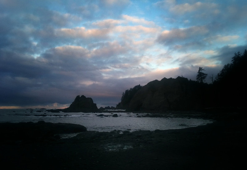 Sunrise at Rialto Beach, Washington