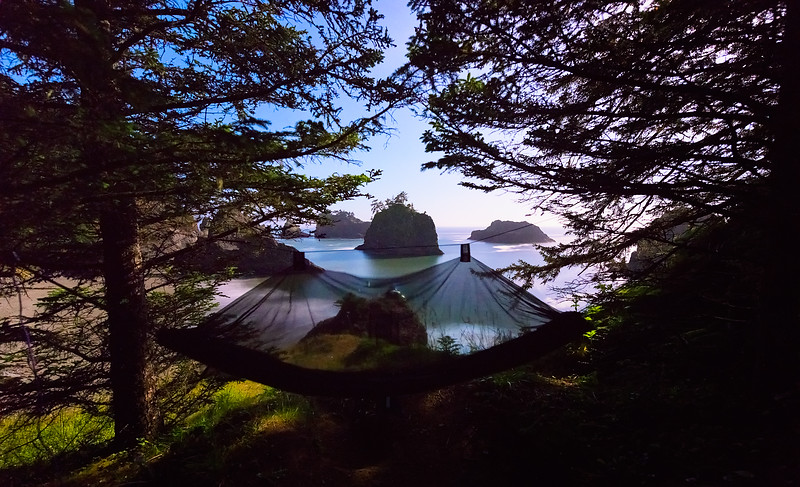 Hammock Camping on the Southern Oregon Coast by Moonlight - May 2015