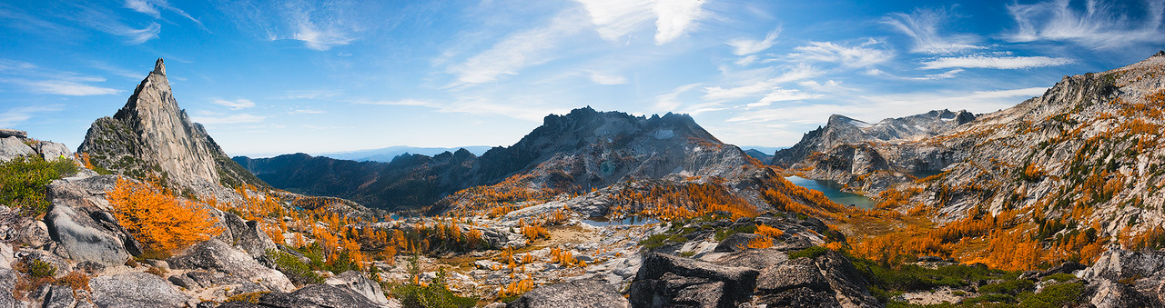A 16 Shot Horizontal & Vertical Pano of the Entire Enchantments Core Zone - October 2014