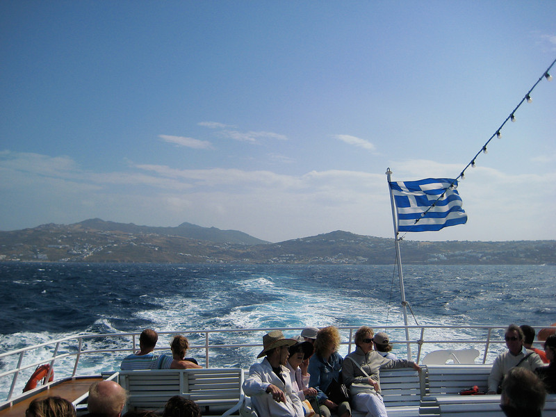Ferry Ride to Mykonos Greece