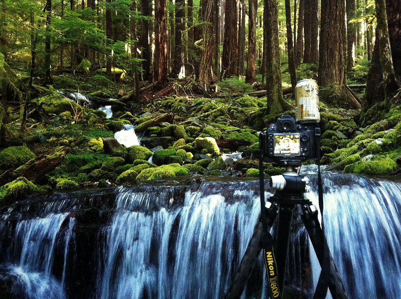 Shooting some waterfalls as the sun rises on the Olympic Peninsula.