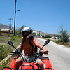 Riding 4-Wheelers in Santorini Greece