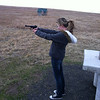 Erika shooting the new Ruger Mark III pistol