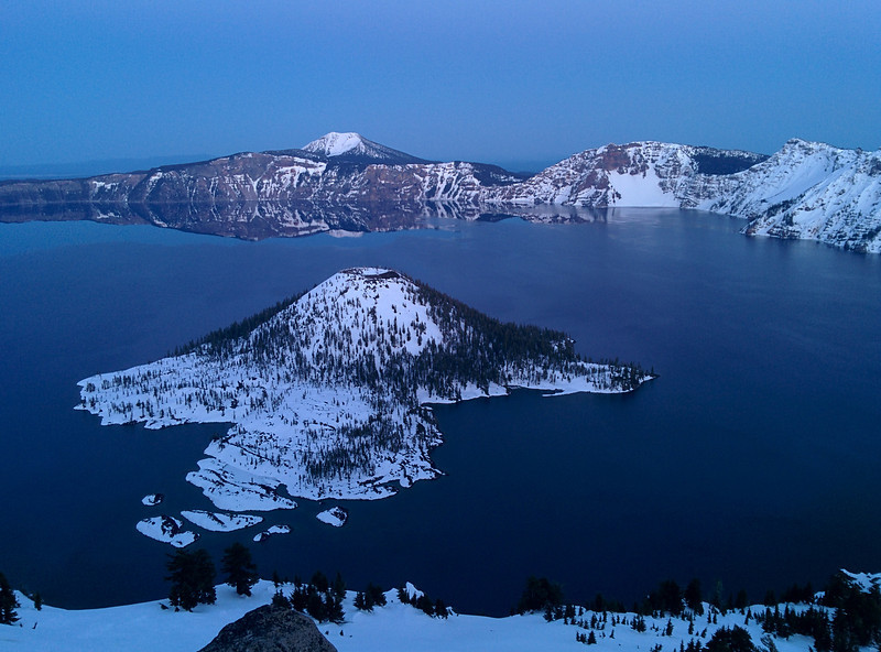 Blue hour from the Watchman Lookout, Crater Lake Oregon