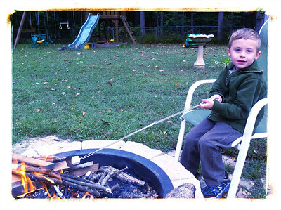 First marshmallow roast of the fall