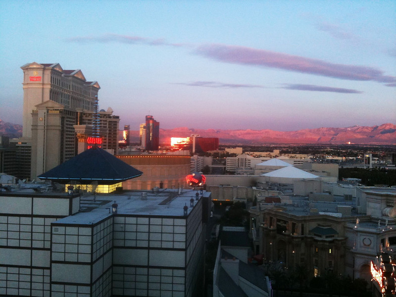 Another Vegas sunrise, and no I wasn't taking pictures;)