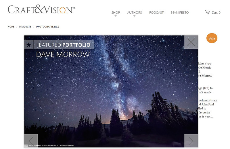 Craft and Vision Photography Magazine - Photography Q&A with Dave Morrow - Issue No. 7
