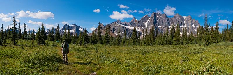 My Dad Hiking Through the Tonquin Valley - Jasper, Alberta Canada