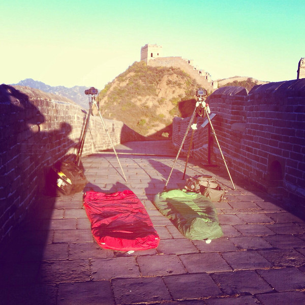 Camping on the Great Wall of China in Jinshaling