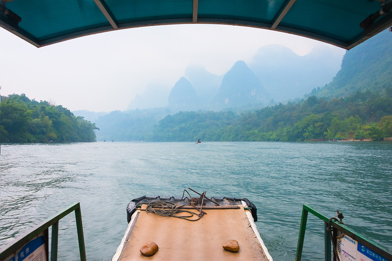Bamboo Rafting on the Li River in China