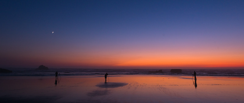 Out Shooting Twilight with one of My Star Photography Workshop Groups - Central Oregon Coast