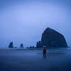 A self portrait in the early hours of the morning at Cannon Beach, OR