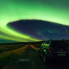 Driving in Iceland During Level 9 Aurora Activity - October 2015